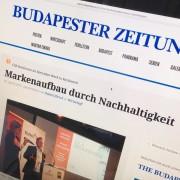 Budapester Zeitung 18. April 2014 Markenaufbau durch Nachhaltigkeit