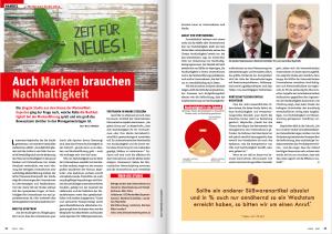 """Casch Bericht 05_2014 über MWE Studie """"Bedeutung der Nachhaltigkeit in der Markenführung"""""""