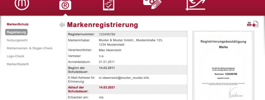 Verwaltung von Registrierungsurkunden