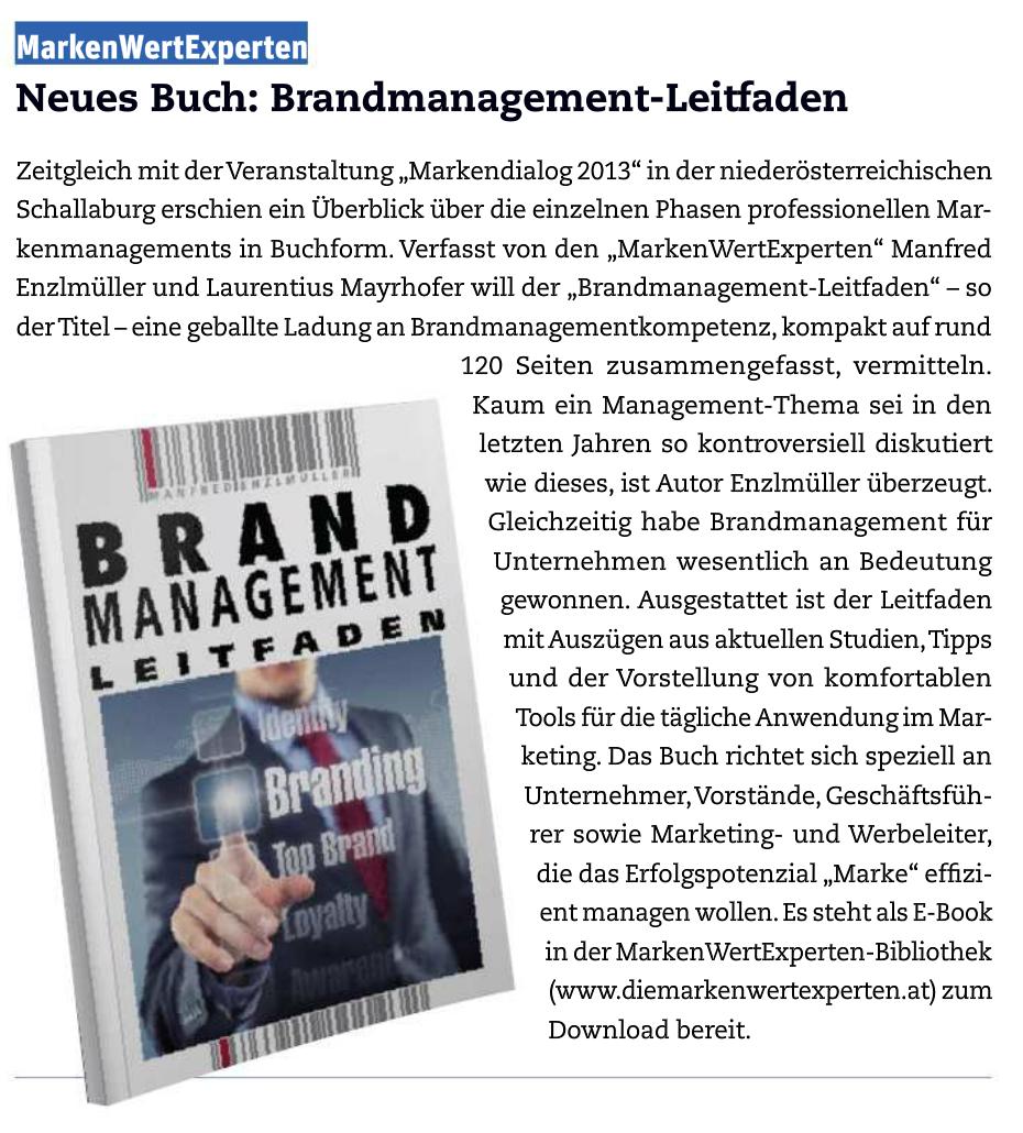 Buchvorstellung Brandmanagement-Leitfaden