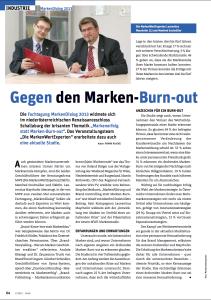 Cash Bericht 11/12 Gegen den Marken-Burn-out