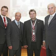 Initiatioren mit zwei Gastvortragenden beim Österreichischen Markendialog 2012