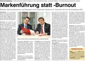 Bericht Medianet 18 Oktober 2014