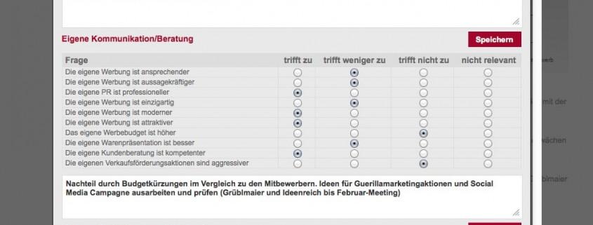 Wettbewerbsanalyse Screenschot