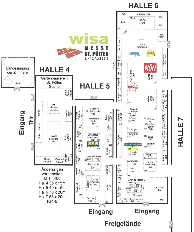 Hallenplan WISA 2016 Vorschau