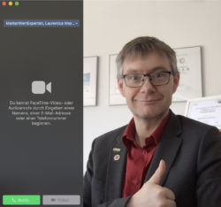 MWE via Apple Facetime-Videoanruf