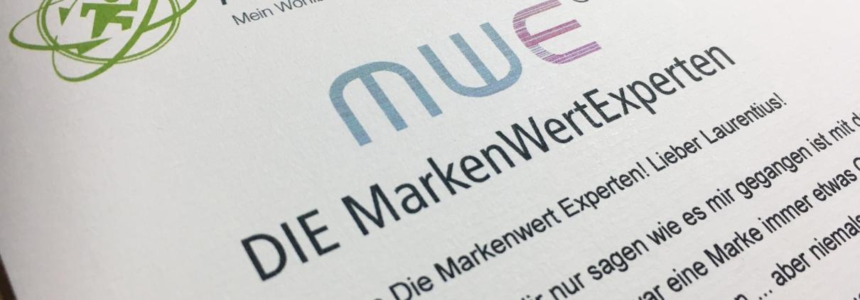 Kopf des schriftlichen Kundenzeugnisses mit Logo Kurt Lapiere und DIE MarkenWertExperten
